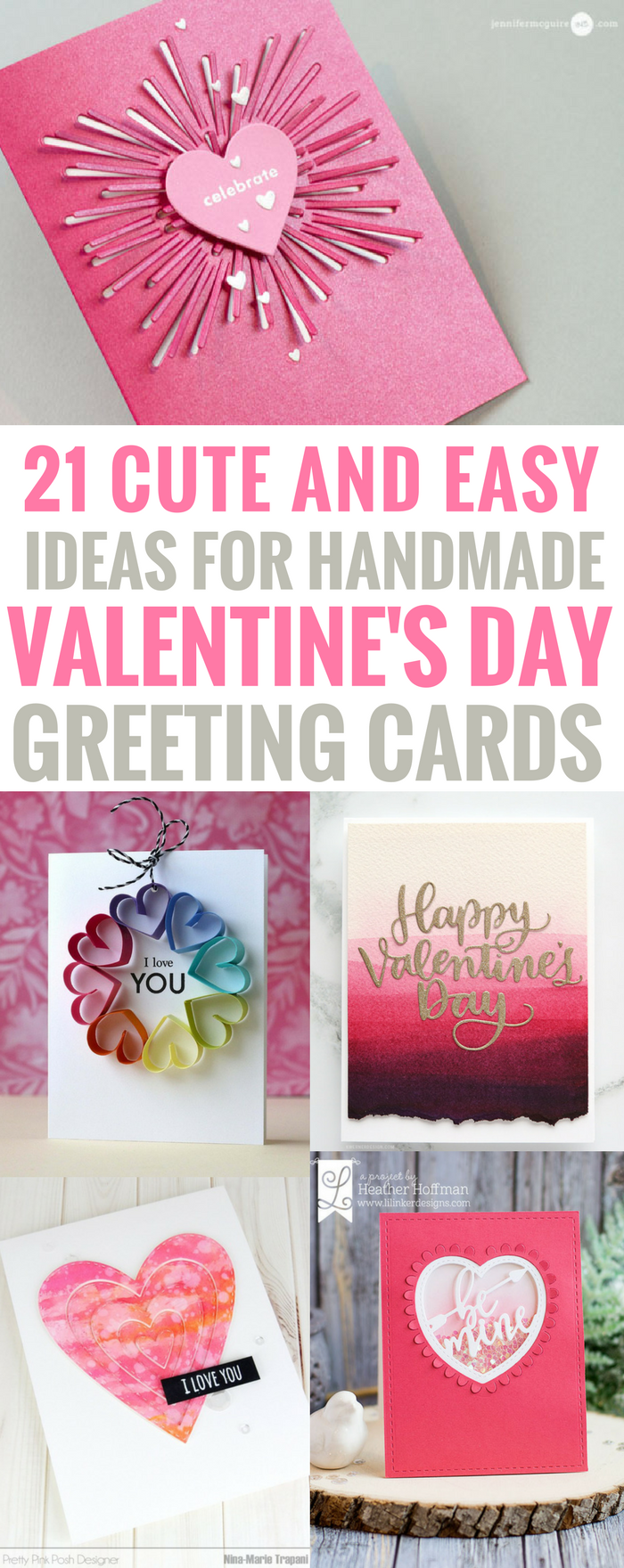 Handmade valentine day cards ideas