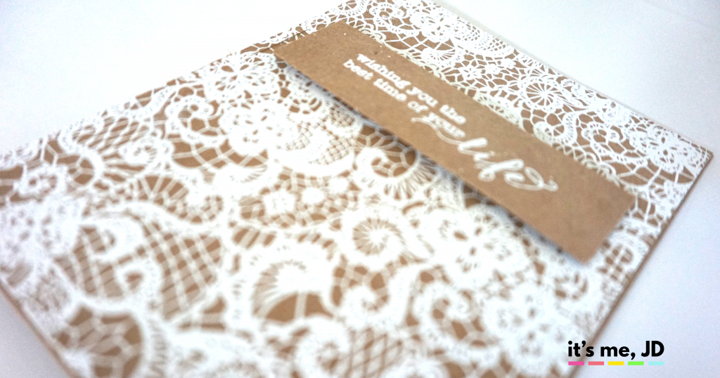 kraft rustic wedding card
