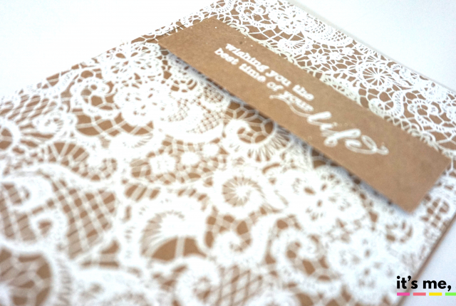 kraft rustic wedding card
