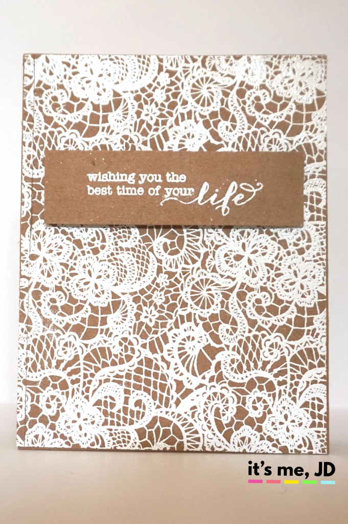 Background Stamp Rustic Wedding Card On Kraft Paper