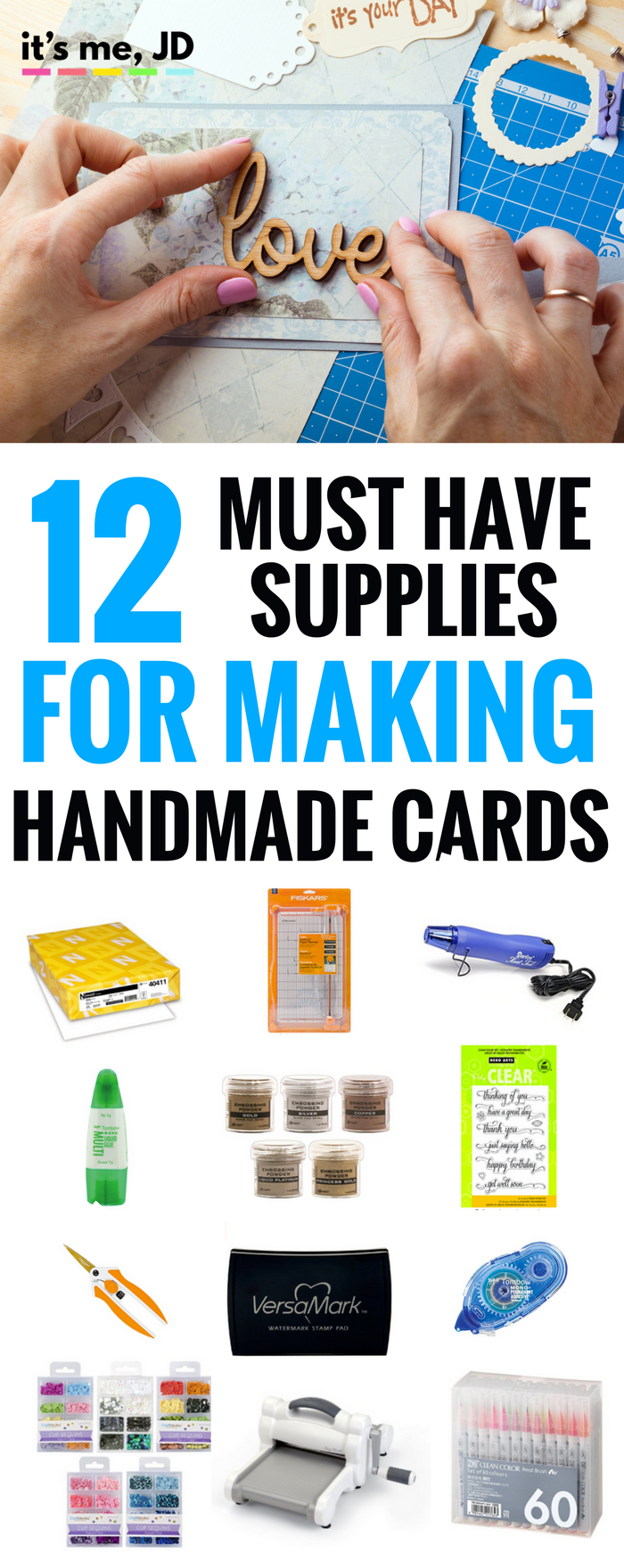 12 MUST HAVE SUPPLIES FOR CARD MAKING, tools, accessories, online