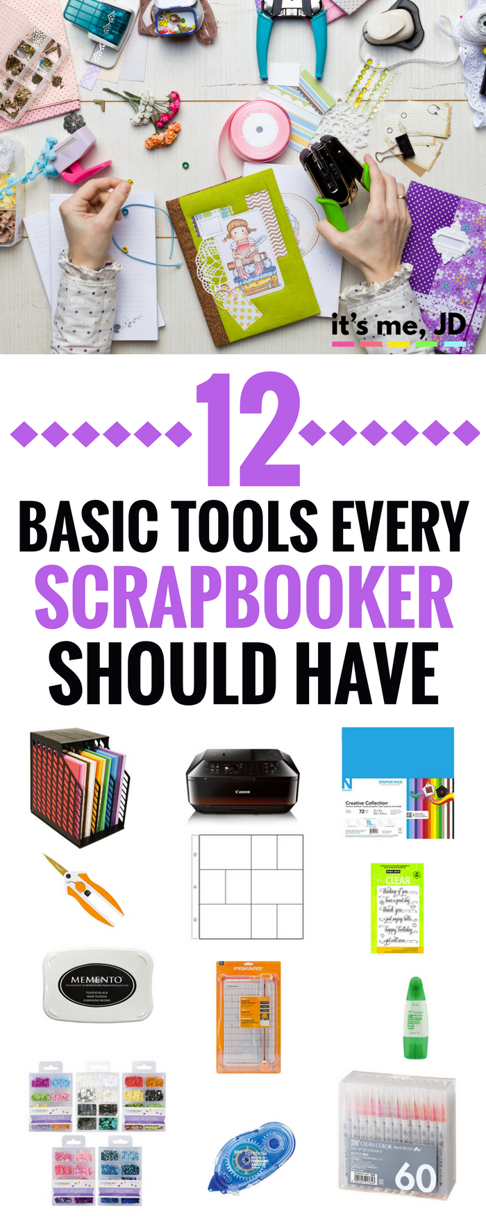 12 must have supplies for scrapbooking beginners, scrappers