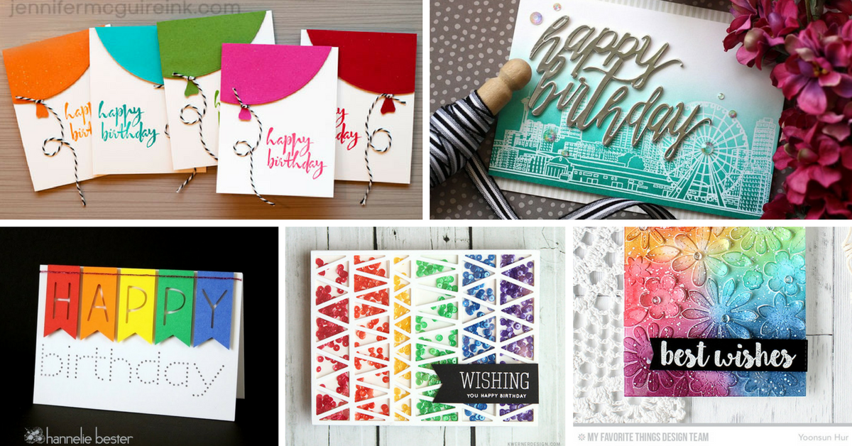 25 cute diy birthday cards you can make yourself m4hsunfo