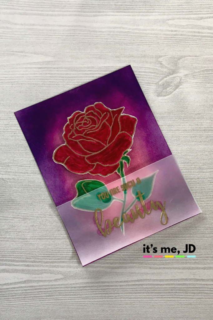 Beauty and the Beast Rose Card Princess Disney