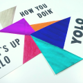 Color Blocking Modern Watercolor Cards