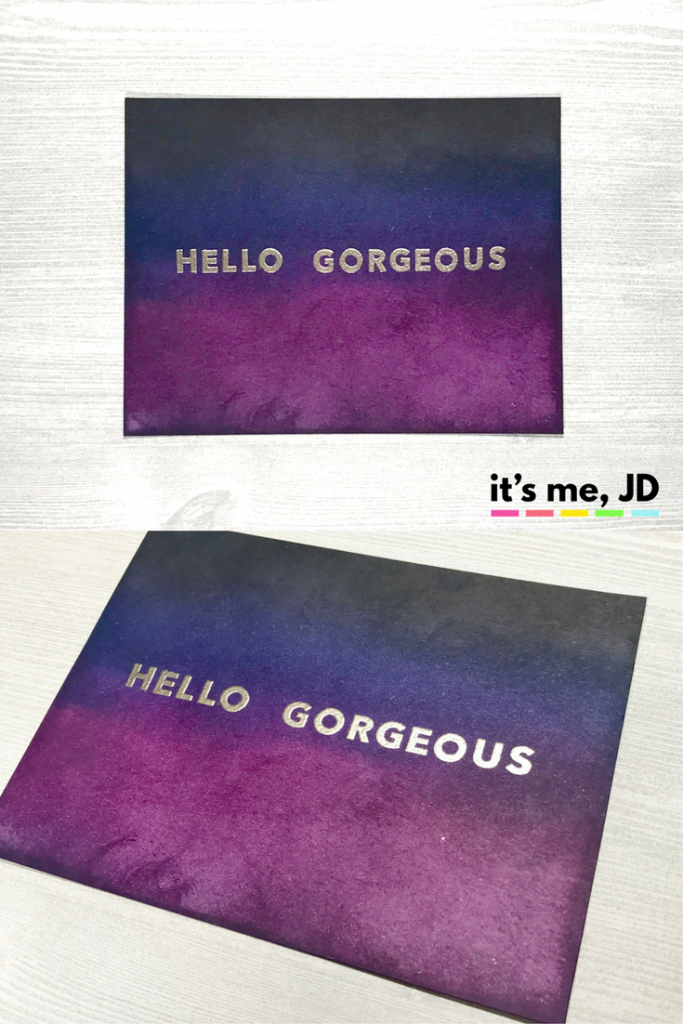 Dark Distress Ink Blending Hello Gorgeous Card Sexy Adult Fabulous