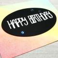 Ink Blending Birthday Soft Rainbow Card Distress Inks