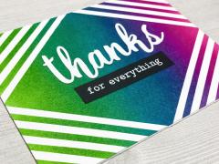 Ink Blending Masking Diamond Stripes Thank you Card Modern Colorful