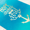 Ink Blending Neat Tangled Blue Anchor Hope Card