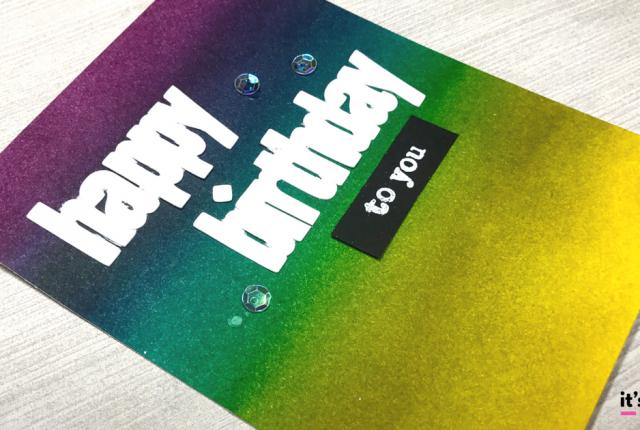 ink blended birthday card distress ink rainbow diy handmade