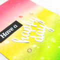 IG - Ink Blending pink yellow green happy day Card