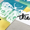 Quick Distress Oxide Butterfly Thank You Card Ink Blending Spring