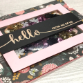 pattern paper shaker flower hello card