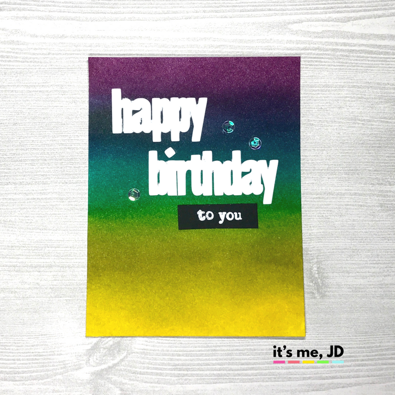 ink blended birthday card distress ink rainbow diy handmade