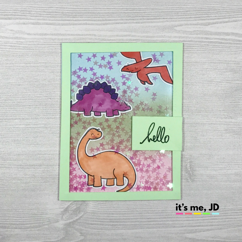 FB - Lawn Fawn Dinosaur Shaker Card