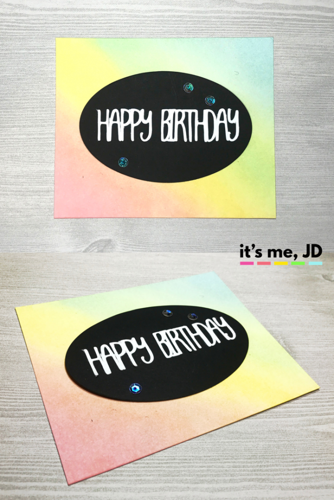 Ink Blending Birthday Soft Rainbow Card Distress Inks