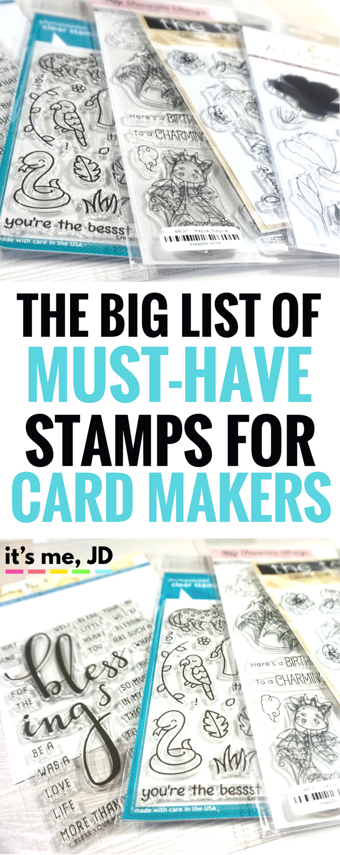 Big List of Must-Have Stamps for Card Makers, craft, papercraft