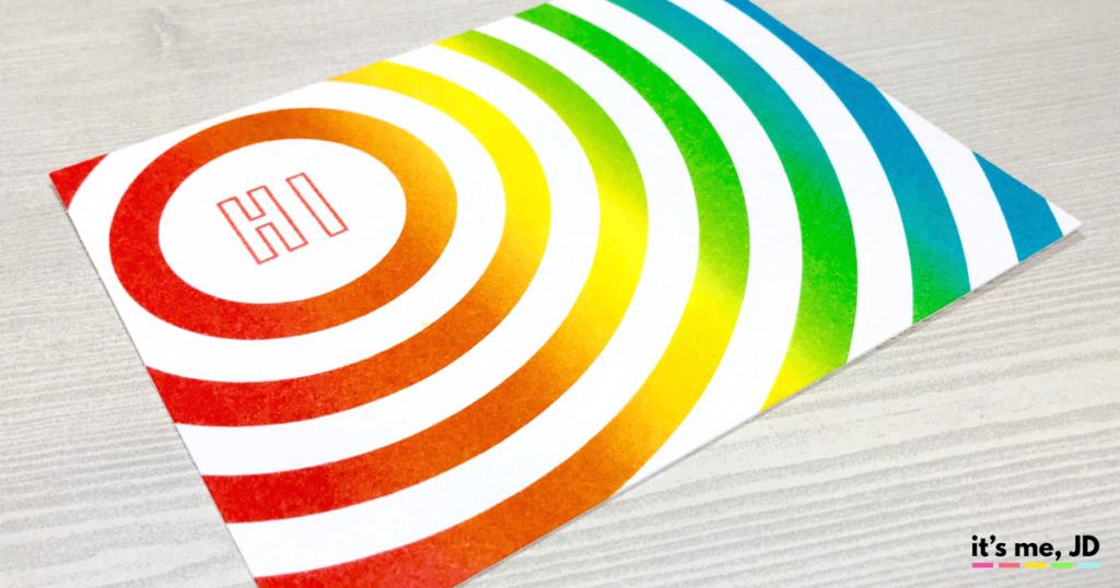 Ink Blending Circle Rainbow Card Distress Ink Hello DIY Handmade