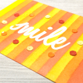 Distress Ink Blending Smile Stripes Card Persimmon Pumpkin Mustard Happy
