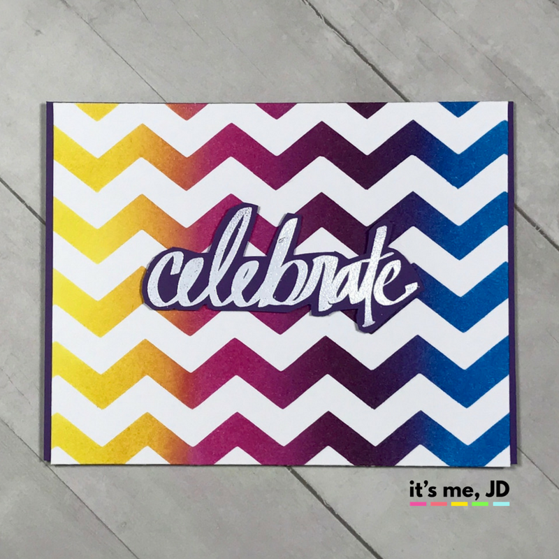 distress Ink blending chevron seed picked seedless salty celebrate card stripes