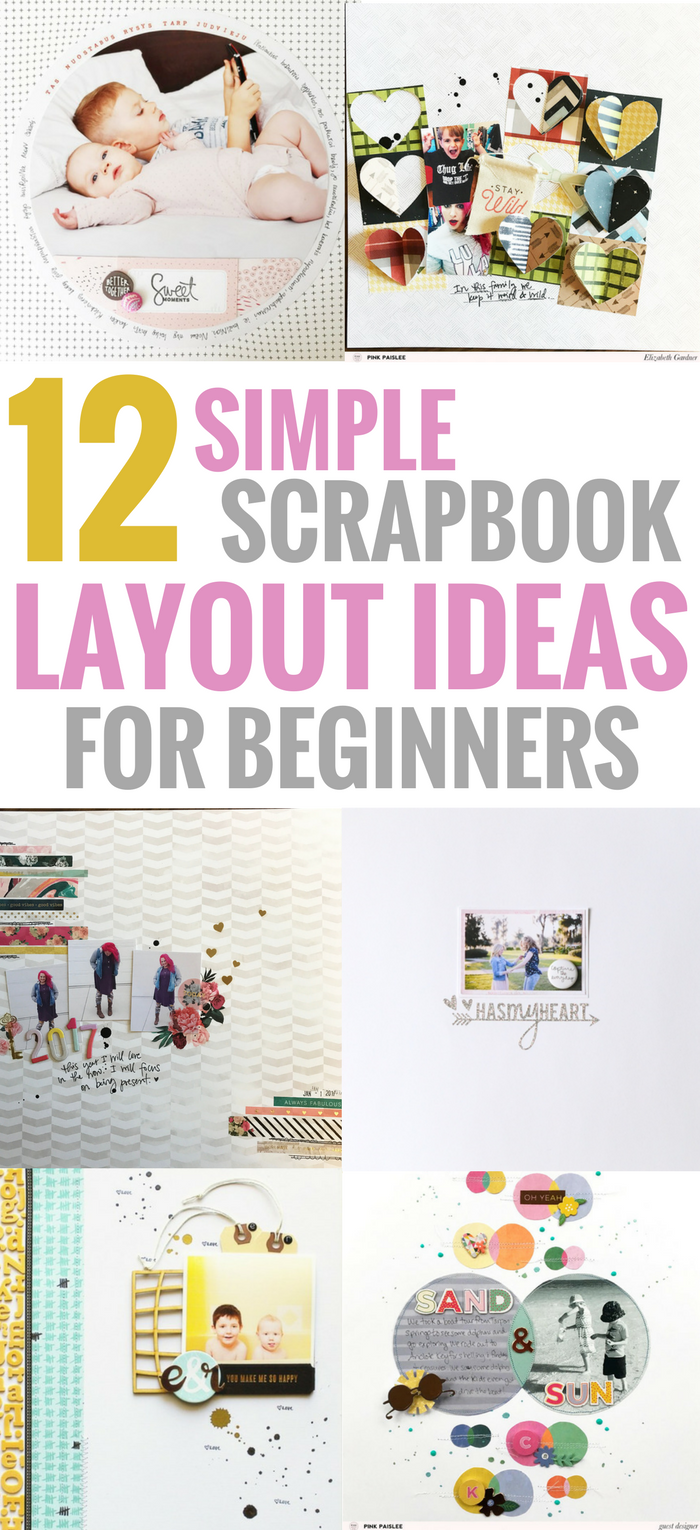 Simple Scrapbook Layouts Ideas That Are Perfect For Beginners, Easy, Creative, DIY paper craft