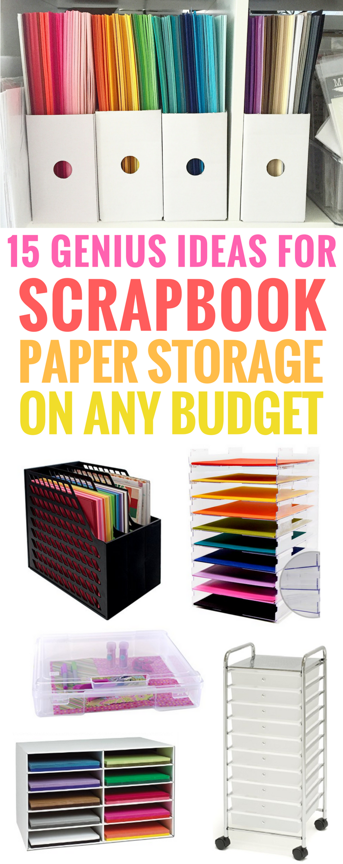 Ideas for Scrapbook Paper Storage (On Every Budget!) DIY Paper Cheap Ikea Portable Crafts