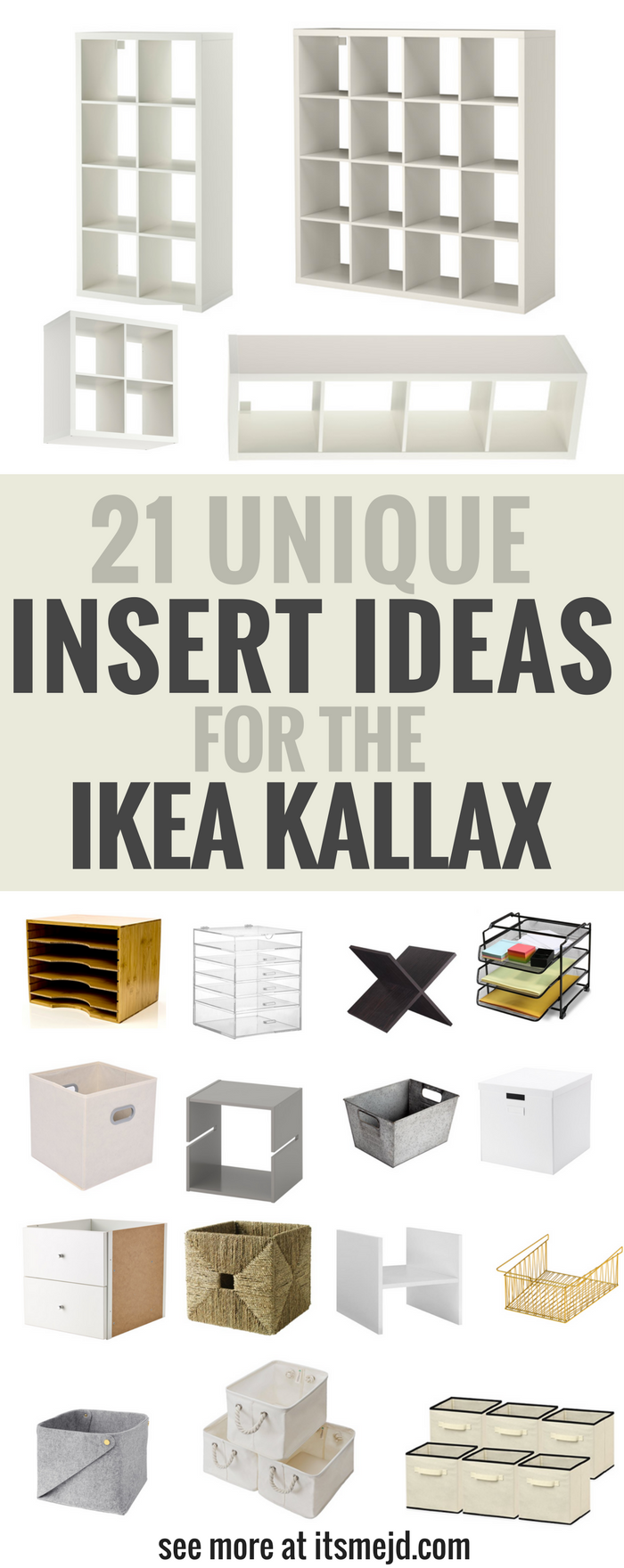 Unique Insert Ideas for an Ikea Kallax Bookcase, DIY , storage, hack