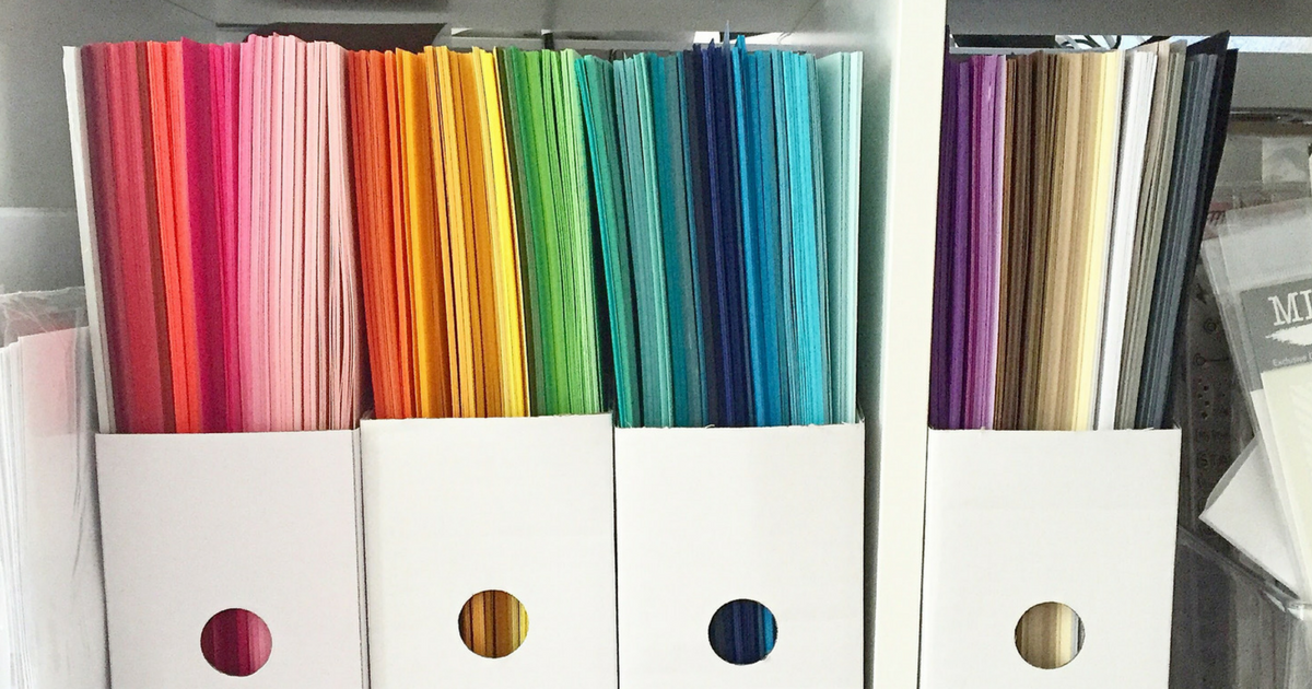 15 Clever Ideas for Scrapbook Paper Storage (On Every Budget!)