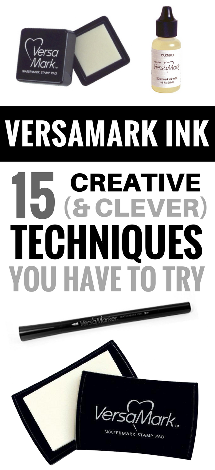 What does Versamark Ink do? Card Making Stamp Paper Craft Scrapbook Techniques Embossing