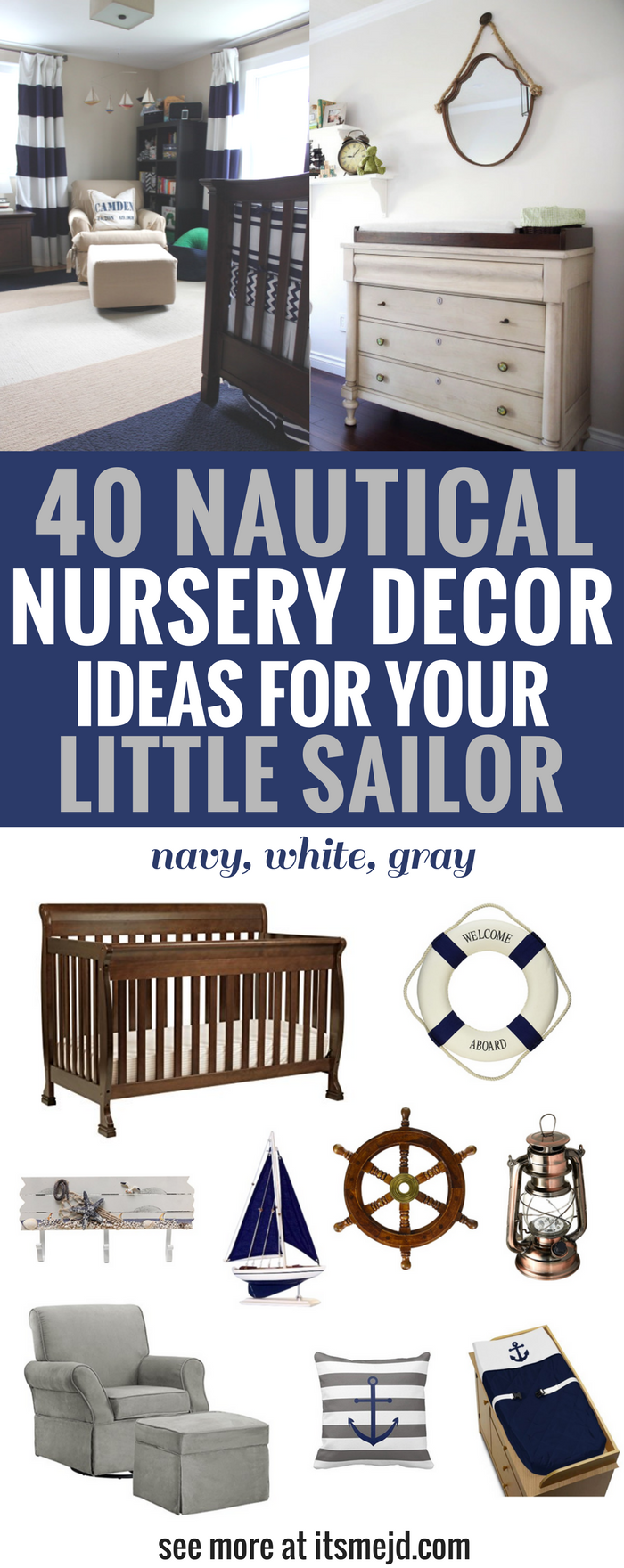 Nautical Nursery Decor Ideas for Your Little Sailor, Boy, Navy Theme, baby