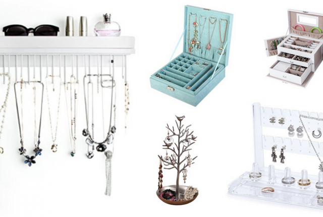 Jewelry Organizers and Storage Ideas That are Fabulous and Functional, Ideas for Wall, Drawer, Box, Closet or hanging up
