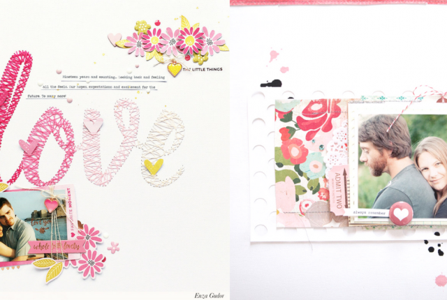 Scrapbook Layout Ideas for Couples in Love Relationships Boyfriend or Marriage, DIY Memories