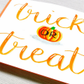 Trick or Treat Pumpkin Halloween Fall Autumn Orange Card