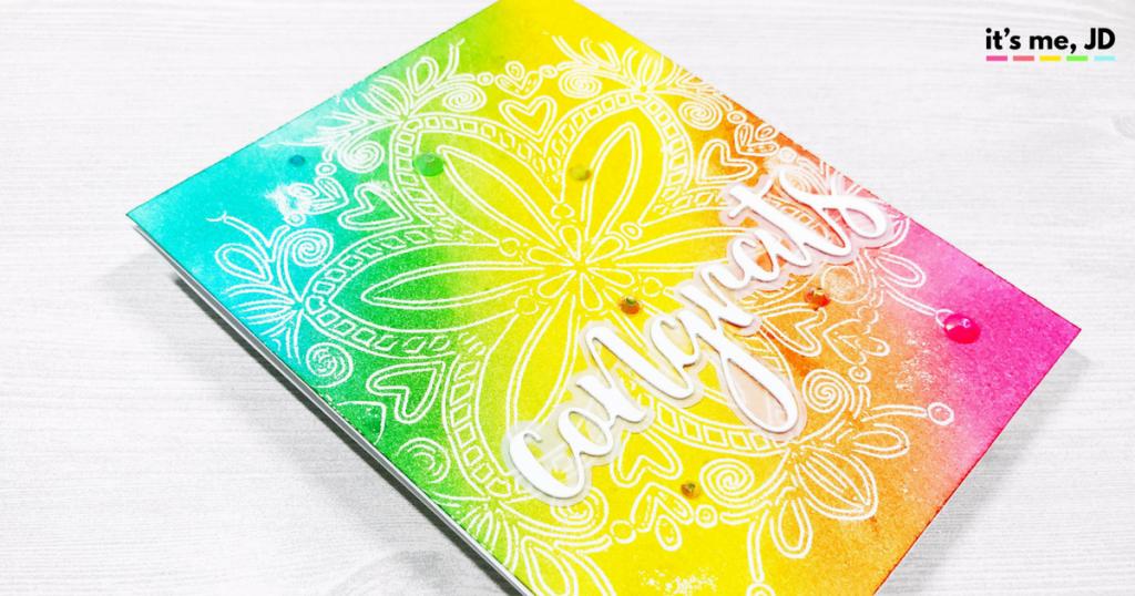 rainbow mandala congrats card