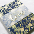 wildflowers embossed gold love Valentine's Day card handmade, DIY