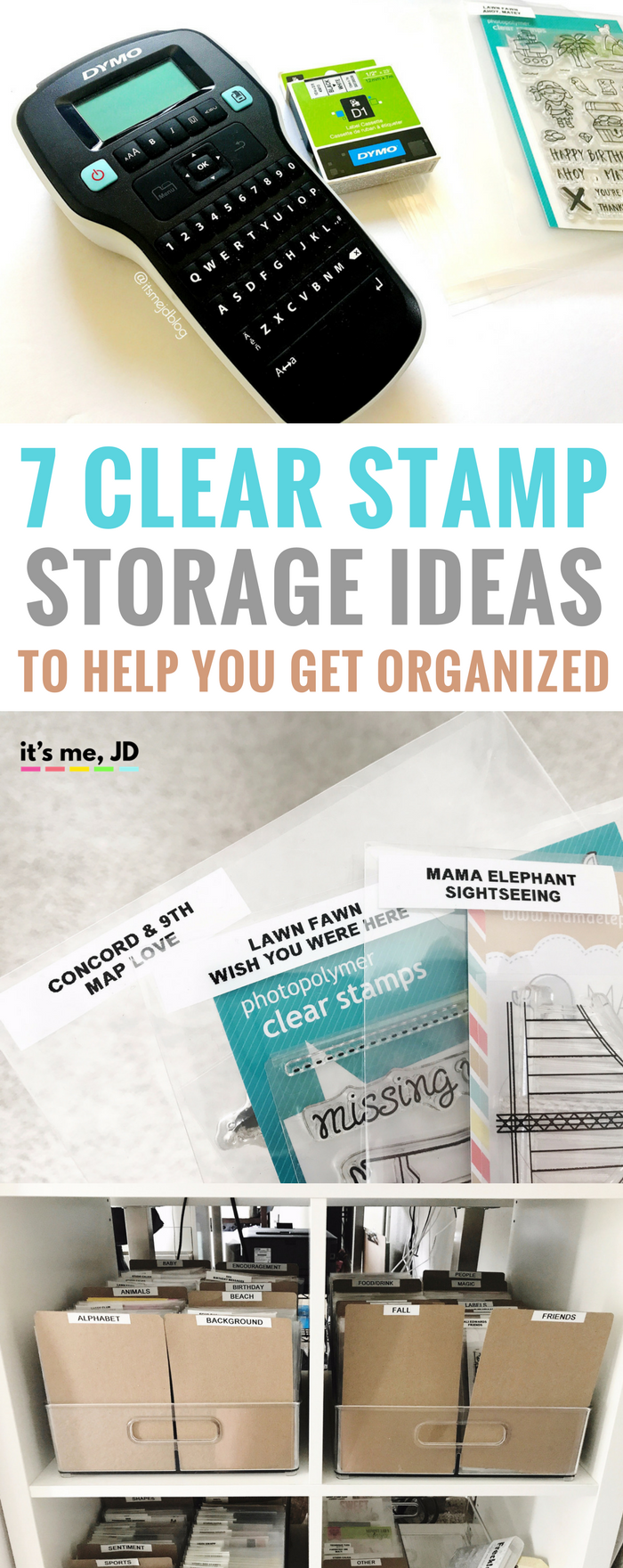 #papercrafts #stamping #cardmaking #scrapbook Clear Stamp Storage Ideas To Help You Organize, binder, pockets, DIY