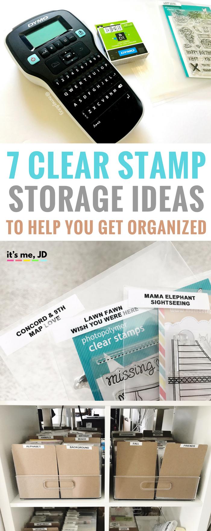 #papercrafts #stamping #cardmaking #scrapbook Clear Stamp Storage Ideas To Help You Organize, binder, pockets, DIY
