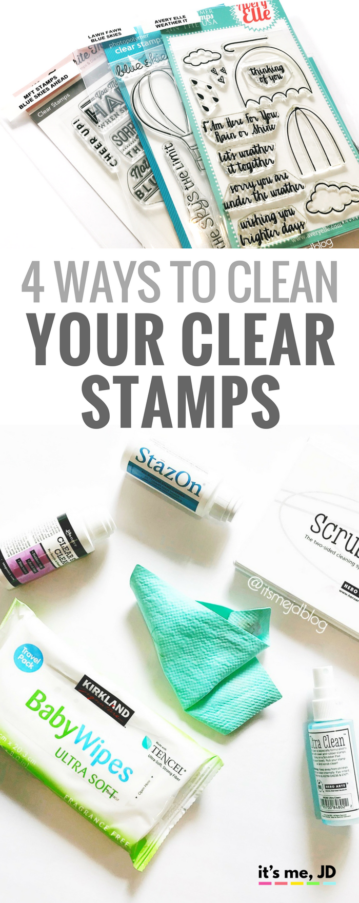 How to Clean Your Clear or Photopolymer Stamps That May Be Stained with Ink, Tutorial