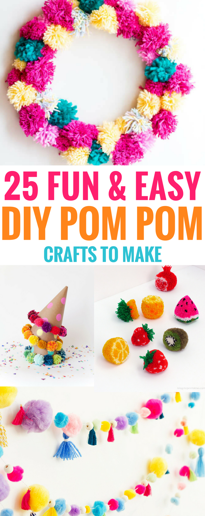 craft ideas easy to make 25 and easy diy pom pom crafts to make 6120