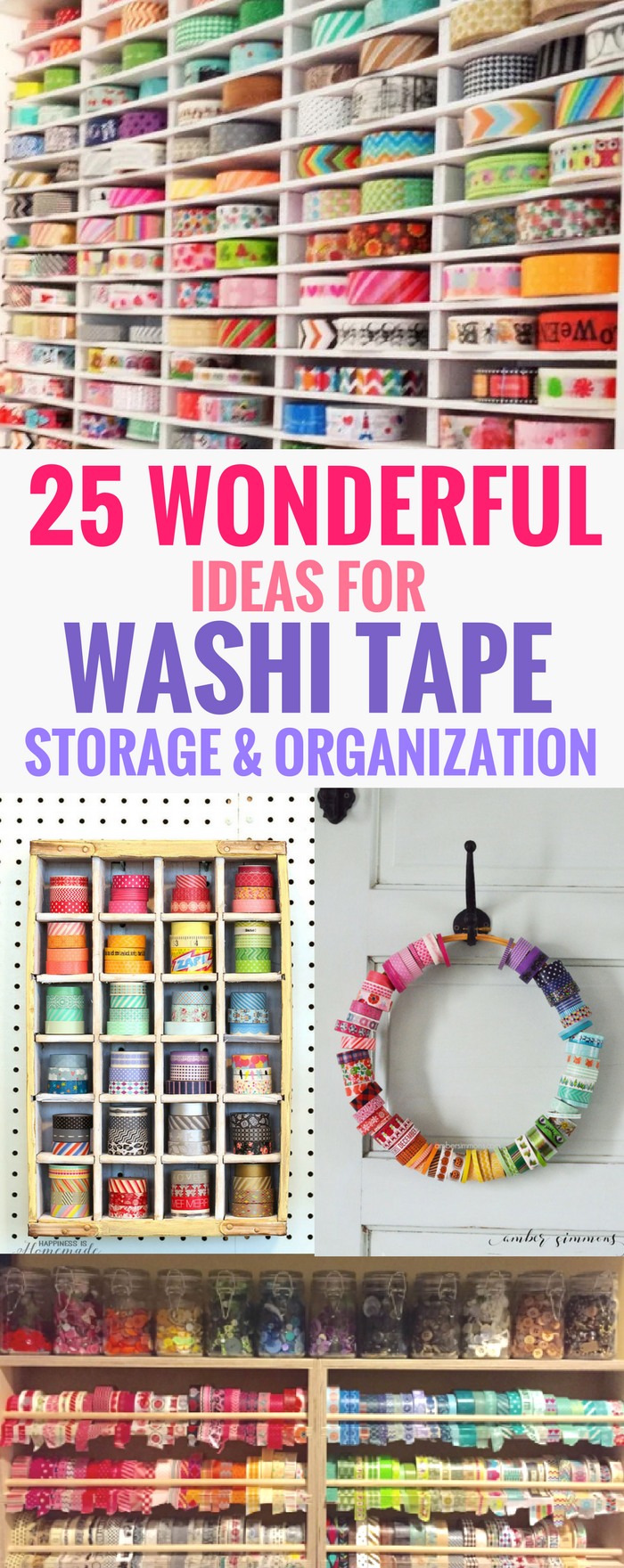 #washitape #crafts #planner Ideas for Washi Tape Storage and Organization, Crafts, Decor, Cards, Journal