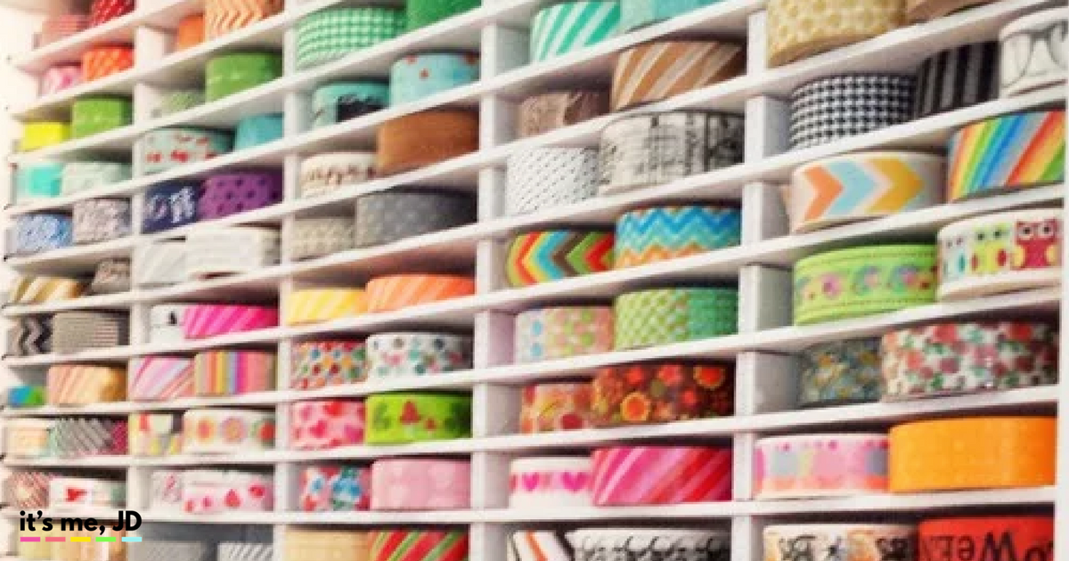 25 wonderful ideas for washi tape storage and organization