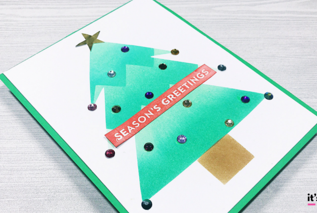 Quick and Easy DIY Christmas Tree Card