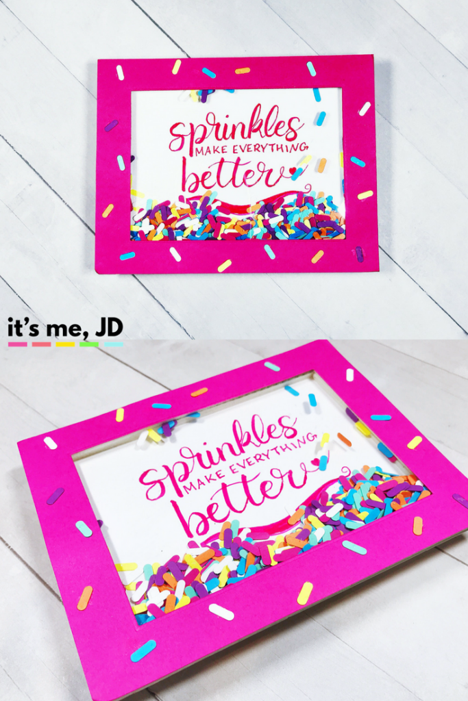 #cardmaking #shakercard #handlettering How to Make A Sprinkle Confetti Shaker Card