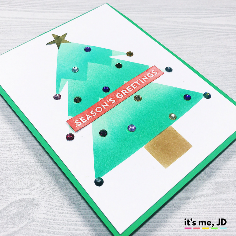 IG - How to Make a Quick and Easy DIY Christmas Tree Card