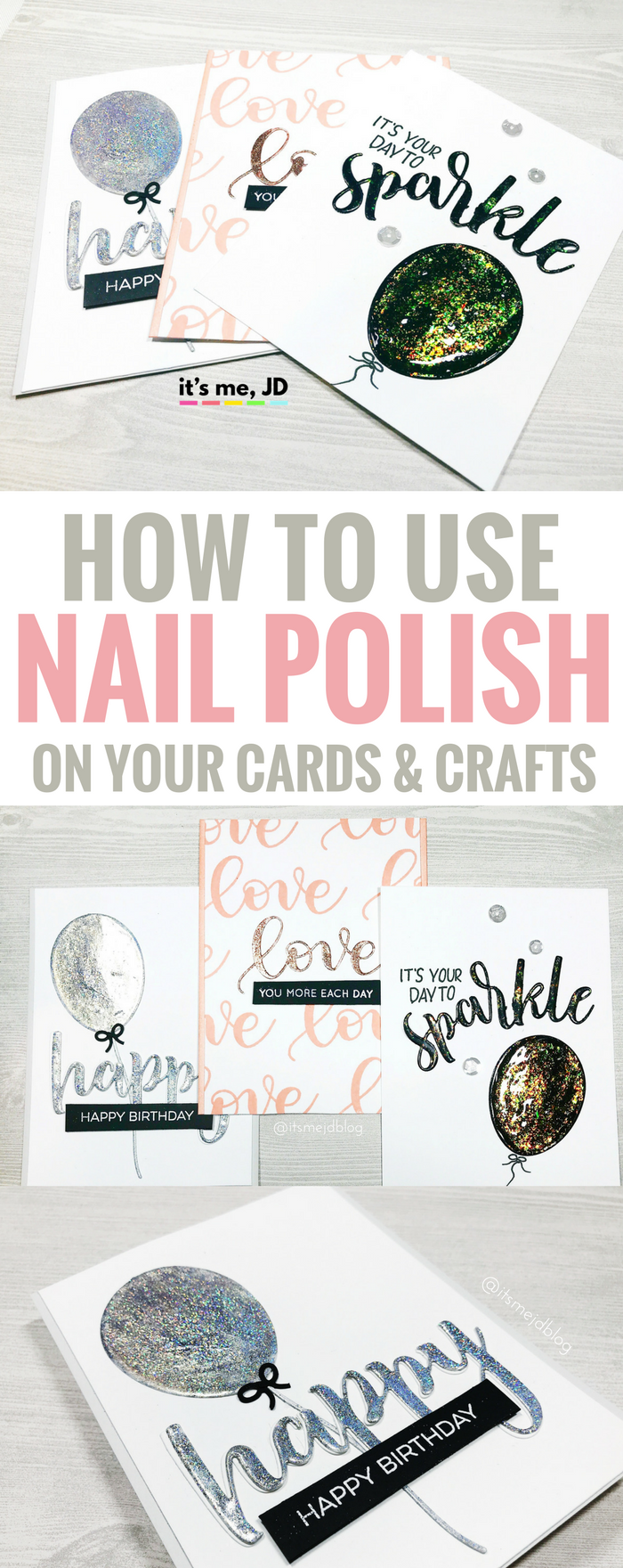 #cardmaking #crafts how to use nail polish on your cards and crafts