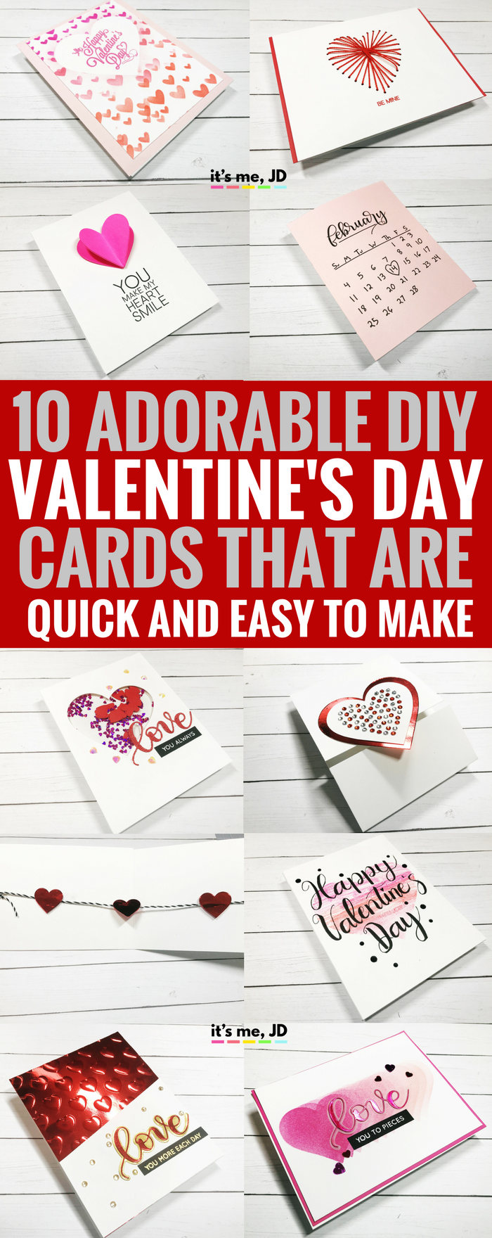 #valentinesdaycraft DIY Valentine's Day Card, Quick, Easy, Handmade, Love, Couple, Craft