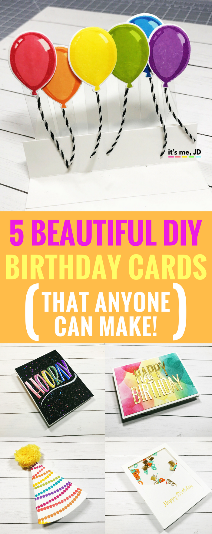 Sensational 5 Beautiful Diy Birthday Card Ideas That Anyone Can Make Personalised Birthday Cards Veneteletsinfo
