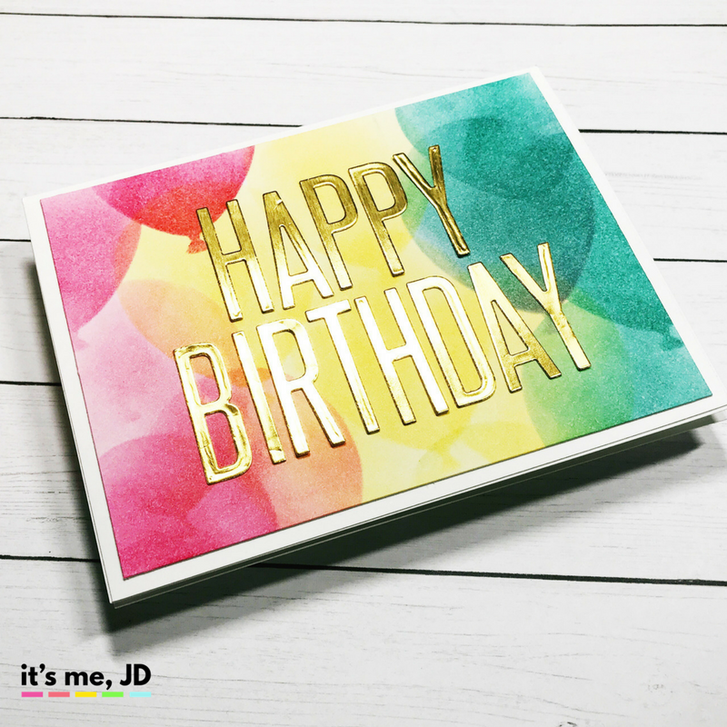 ink blend balloon, 5 DIY Birthday Cards, Handmade easy, and simple Birthday Card Ideas