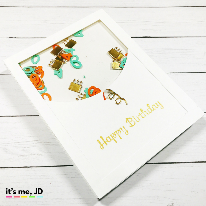 shaker, 5 DIY Birthday Cards, Handmade easy, and simple Birthday Card Ideas