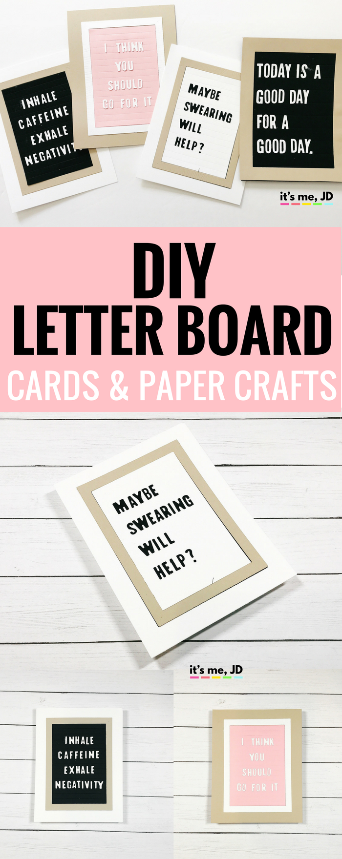#letterboard DIY Letter Board Card and Paper Crafts Ideas Quotes